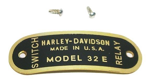 IDENTIFICATION TAG for 32E Generator 1932 - 1941