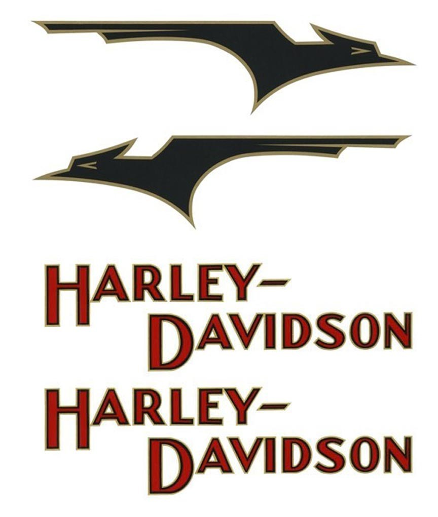 """""""Bird"""" & """"Small H-D"""" DECAL SET for 1933 Gas Tanks"""