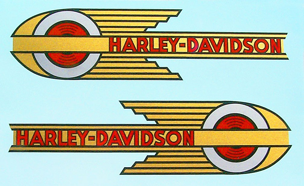"""""""Speed Ball"""" DECALS for 1936 - 1939 Gas Tanks (Water)"""