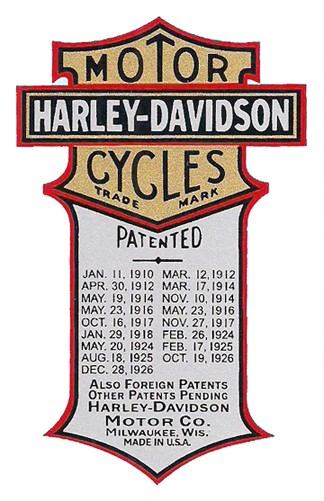 PATENT DECAL for 1926 - 1933