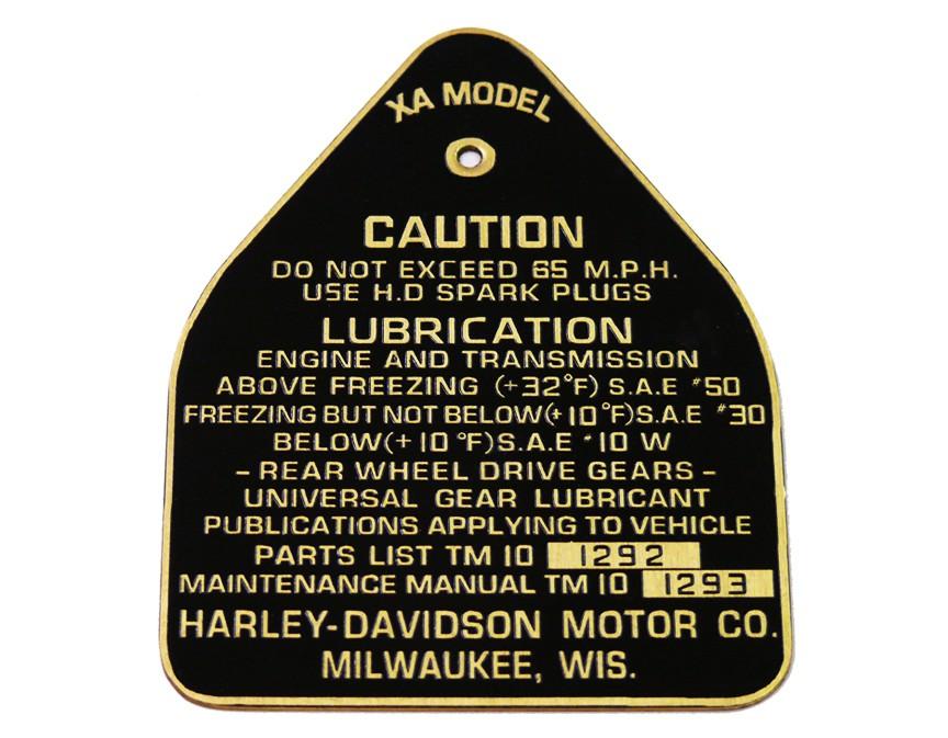 WW2 CAUTION TAG for XA Gas Tanks